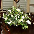 Mixed White Lily Dining Room Floral