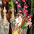 Orchids on Crackled Glass